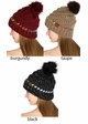 Warm CC Hat with Pom and Ombre Trim inset 2