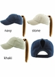 Washed Cotton Ponytail Baseball Hat available in 20 colors inset 3