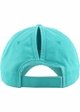Washed Cotton Ponytail Baseball Hat in Neon Colors inset 4