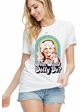 What Would Dolly Do? Distressed T-shirt inset 1