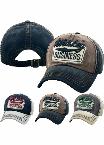 Whiskey Business Vintage Baseball Hat