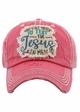 WHY Y'ALL TRYING' TO TEST THE JESUS IN ME Washed Vintage Baseball Cap inset 1