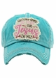 WHY Y'ALL TRYING' TO TEST THE JESUS IN ME Washed Vintage Baseball Cap inset 3