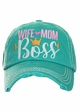 WIFE MOM BOSS Vintage Ballcap inset 2