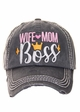 WIFE MOM BOSS Vintage Ballcap inset 3