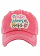 WIFE MOM BOSS Washed Vintage Baseball Cap inset 3
