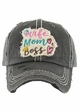 WIFE MOM BOSS Washed Vintage Baseball Cap inset 4