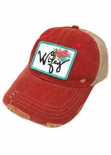 Wifey Floral Patch Hat