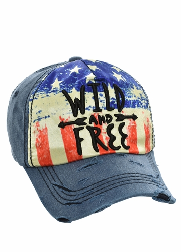 Wild and Free Cotton Baseball Hat