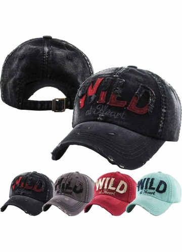 Wild At Heart Distressed Vintage Ballcap