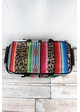Wild Serape with Black Trim Collapsible Insulated Market Basket with Lid inset 1