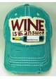 Wine is The Answer Baseball Hat inset 1