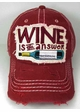 Wine is The Answer Baseball Hat inset 2