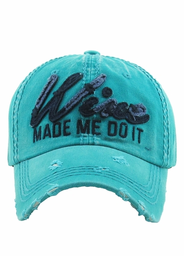 WINE MADE ME DO IT Vintage Baseball Hat