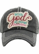 With God All Things Are Possible Washed Vintage Ballcap inset 1