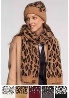 Woven Leopard CC Scarf