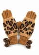 Woven Leopard Knit CC Gloves inset 2