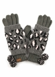 Woven Leopard Knit CC Gloves inset 1