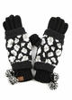 Woven Leopard Knit CC Gloves inset 3