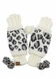Woven Leopard Knit CC Gloves inset 4
