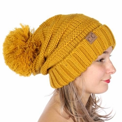 Yellow CC Beanie Hats, Gloves and Scarves