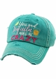 YOU AND TEQUILA MAKE ME CRAZY Washed Vintage Ballcap inset 1