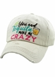 YOU AND TEQUILA MAKE ME CRAZY Washed Vintage Ballcap inset 3