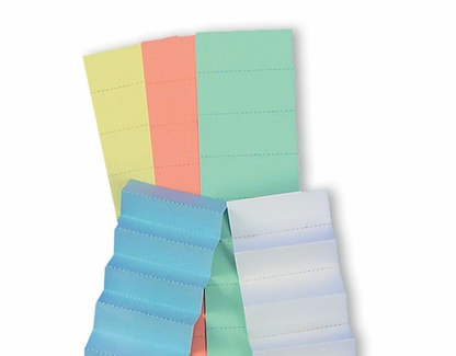 1 Inch Data Card Inserts  Full Perforated Sheets set/10 Lime