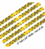 "10 Pack Social Distancing Floor Strip - Safety Yellow 3"" x 24"""