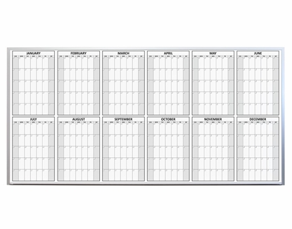 12 Month Dry Erase Calendar 4' x 8' March
