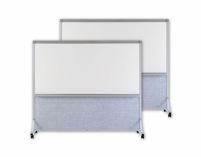 """2 Sided Whiteboard Room Divider 76"""" x 72"""" Turquoise"""