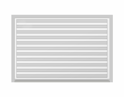 """2 x 3 Board with 1"""" Wide Lines Variegated"""