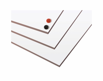 4' Tall Magnetic Dry Erase Panels 4' x 4' Two Pack