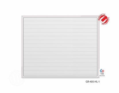 4' x 5' Lined Dry Erase Board