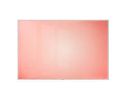 4' x 6' Red Sunburst Dye Sub Dry Erase Board No Tray