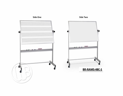4 x 8 Portable Dry Erase Music Staff One Side