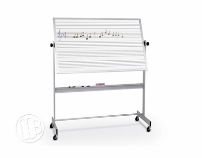 4 x 8 Portable Dry Erase Music Staff Two Sides