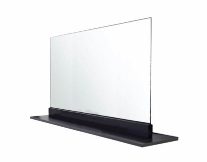 """42"""" x 24"""" Social Distancing Safety Shield, Free Standing, Black Base"""