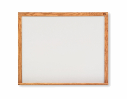 5' Tall Oak Framed Whiteboard