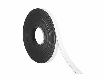 """50' Rolls of Write On Wipe Off Magnetic Strips 3/8"""" Wide x 50' Roll White"""