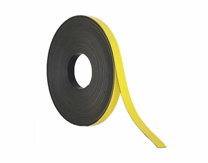 """50' Rolls of Write On Wipe Off Magnetic Strips 3/8"""" Wide x 50' Roll Yellow"""