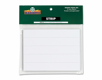 """7/8 Inch 25 Pack 7/8"""" Tall x 6"""" Wide 25/Pkg White"""