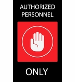 Authorized Personnel Only Safety Mat