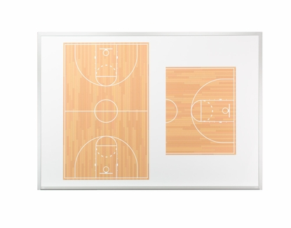 """Basketball Dry Erase Boards - Wall Mounted 32"""" Tall x 45.5"""" W Magnetic"""