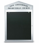 Cathedral Design Church Letter Boards