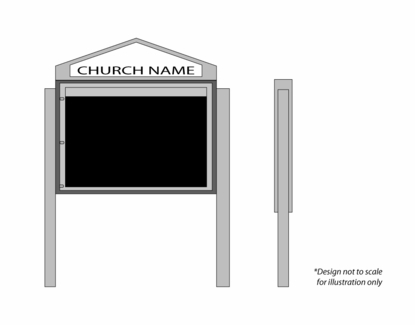"Cathedral Design Church Letter Boards 60"" Wide x 42"" Tall"
