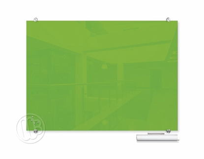 """Green Magnetic Glass Dry Erase Marker Boards 47.24"""" H x 70.87"""" W"""