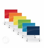 Colored Portable Magnetic Glass Board