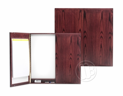 Contemporary 4x4 Walnut Stained Cabinet  - Black Tack Doors
