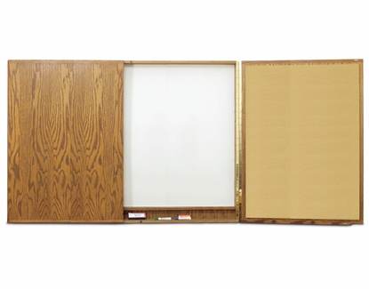 Contemporary 4x6 Unstained Cabinet  - Whiteboard Doors